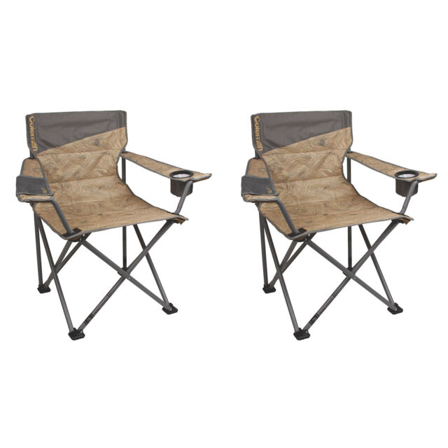 Coleman Oversized Big-n-Tall Quad C&ing Chairs (2 Pack) | 2  sc 1 st  eBay & Coleman Oversized Big-n-tall Quad Camping Chairs (2 Pack) | 2 X ...