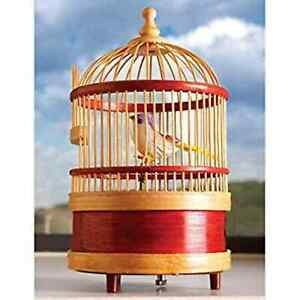 RETRO-CLOCKWORK-TOY-WHISTLING-BIRD-IN-CAGE