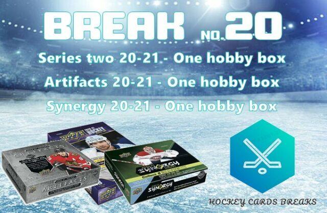 THREE HOBBY BOXES - 2020-21 SERIES 2, ARTIFACTS, SYNERGY - TEAM RANDOM