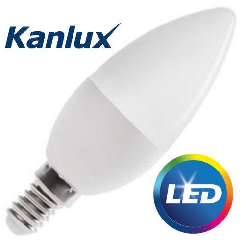 5x E14 LED SMD Kanlux 6.5W T alto lumen Bombilla Vela Lámpara 600lm blanco frío
