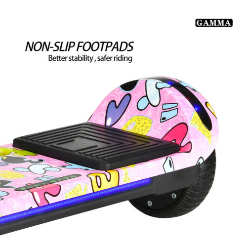"""Hoverboard 6.5/"""" Electric Scooters Bluetooth LED 2 Wheels Lights Balance Board US"""