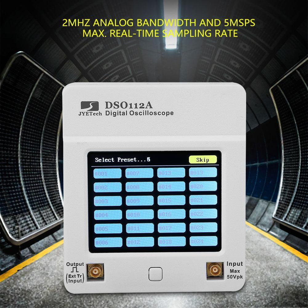 DSO112A Digital Oscilloscope Portable Mini Wave USB Tester;Multimeter 2MHz 5Msps