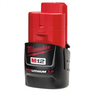 Milwaukee 48-11-2420 M12 REDLITHIUM 2.0 Compact Battery Pack