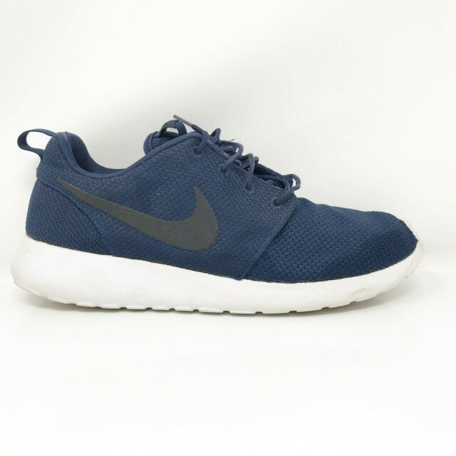 Nike Mens Roshe One 511881-405 Blue Running Shoes Lace Up Low Top Size 10.5