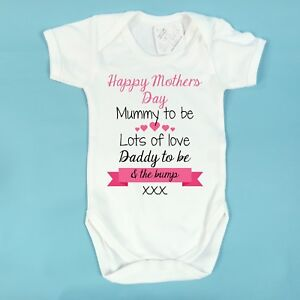 Image Is Loading Hy Mothers Day Mummy To Be Baby Vest