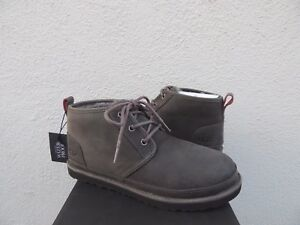 f9775c2c017 Details about UGG NEUMEL CHARCOAL WATERPROOF LEATHER CHUKKA ANKLE BOOTS, US  10/ EUR 43 ~NIB
