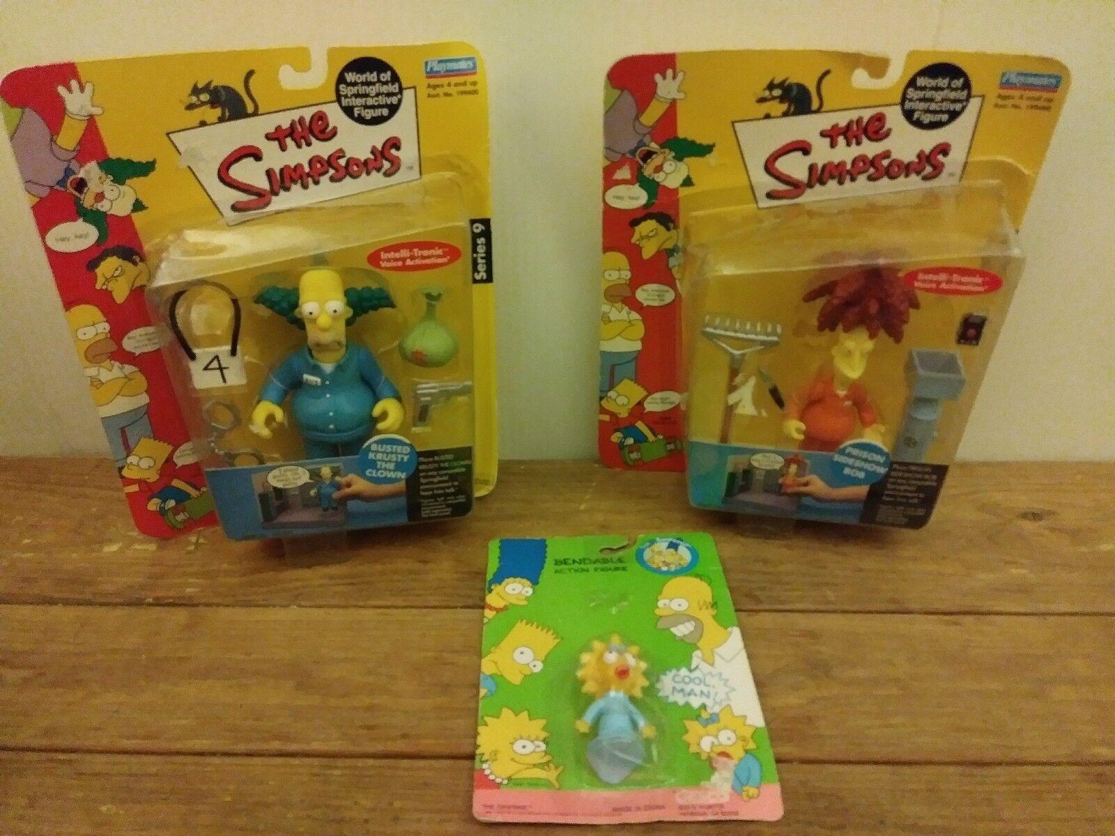 Simpsons Figures busst Krusty the Clågn Prison Show Bob serie 9 Bendable Lisa