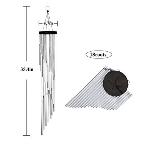 Large Wind Chimes Amazing Grace Wind Chime with 18 Aluminum Alloy Tubes Decor