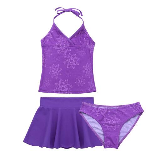 Kids Girls Tankini Bikini Floral Swimsuit Swimwear Bathing Swimming Beachwear