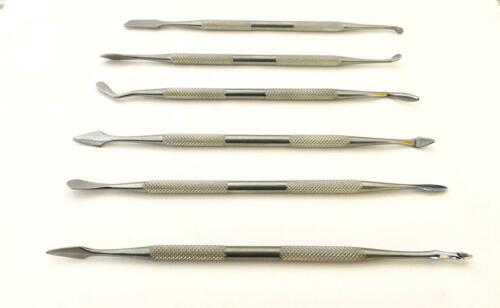 6PC WAX STAINLESSTEEL CARVING CHISEL TOOLS SET CRAFT CLAY SCULPTING ART MODEL