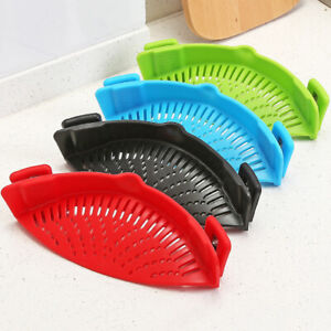 Clip-On-Kitchen-Food-Strainer-For-Spaghetti-Pasta-and-Ground-Beef-Cheese