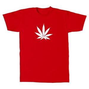 Herren-T-Shirt-Hanfbaltt-Weed-Style-Design