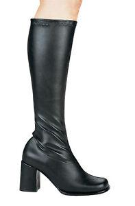 Matte-Black-Knee-High-Boots-3-034-Chunky-Heel-Inner-Zipper-Ellie-Shoes-Gogo-10M