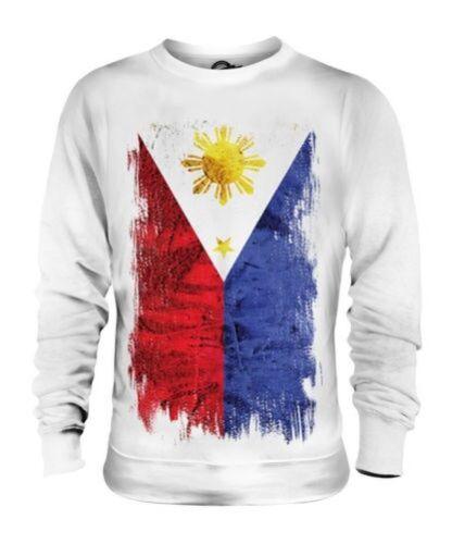 Maglione Unisex Filippine Filipinas Grunge Del Bandiera 808SBI