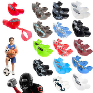 2pk Shock Doctor Lip Guard Mouth Guards & Straps Max Airflow Mouthpiece Football