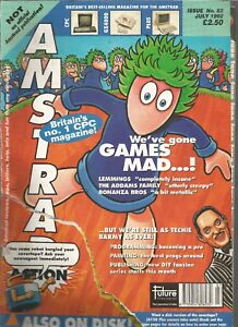 AMSTRAD-ACTION-ISSUE-82-JULY-1992-MAGAZINE-ripped-loose-cover