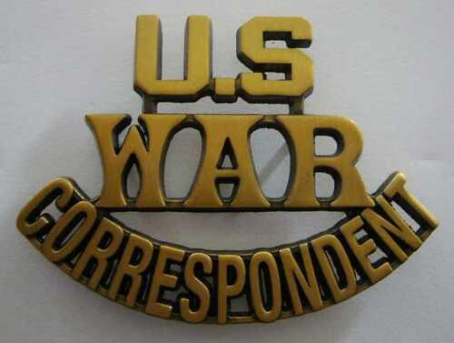 WWII U.S WAR CORRESPONDENT Reproduction