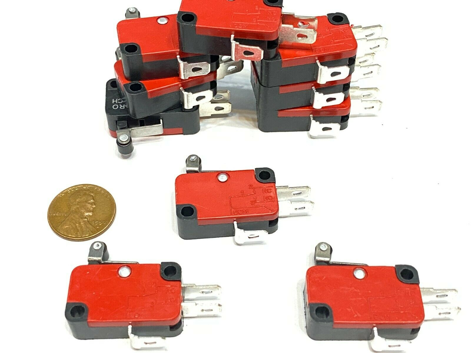 10 Pieces Limit Micro roller Switch V-155-1C25 SPDT Snap Action Momentary B1