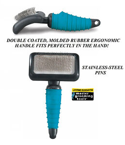 PRO-PET-MEDIUM-SLICKER-BRUSH-ERGONOMIC-Handle-Dog-Cat-Grooming-Dematting-De-Shed