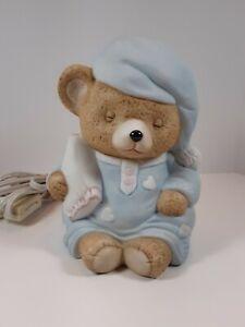 Ceramic sleepy bear nursery night light