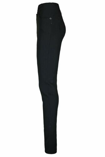 Ladies Girls Black High Waist Trousers Great Quality School Work Stretch Pants