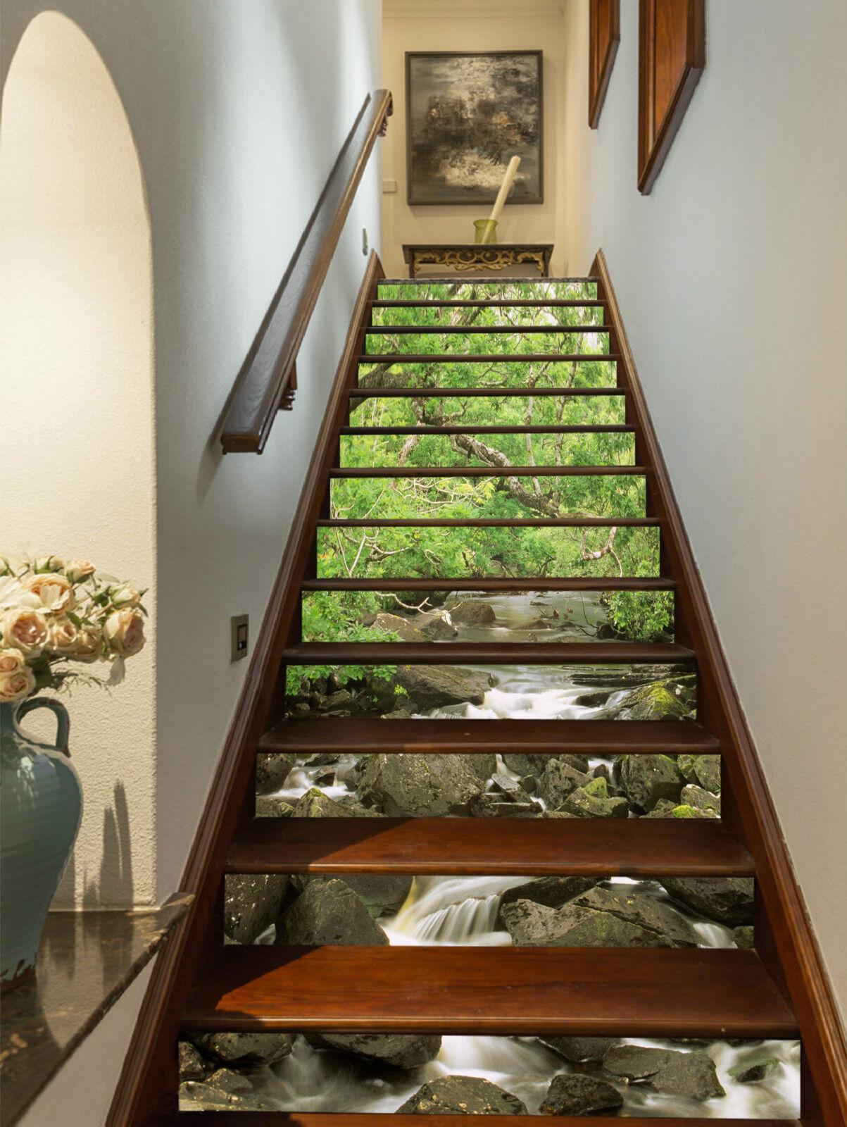 3D Natur Baum 235 Stair Risers Dekoration Fototapete Vinyl Aufkleber Tapete DE