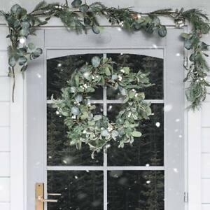 Outdoor-Christmas-Mistletoe-Wreath-Garland-Door-Fireplace-Mantel-Garden-Decor