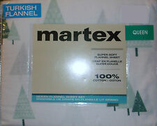 QUEEN FLANNEL SHEETS CHRISTMAS WINTER TREES DESIGN WHITE GEEEN COTTON MARTEX NEW