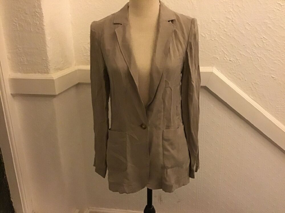 Marks And Spencer Pure Cupro Veste Taille 6
