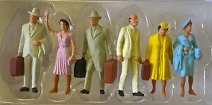Preiser 65502 Spur 0 Reisende stehend Figuren bemalt