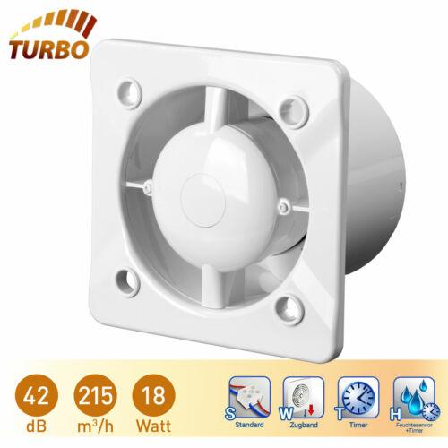 Badlüfter Küche WC mit Kugellager Ø125 Feuchtesensor Nachlauftimer Silent Turbo