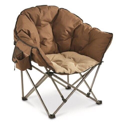 Oversized Camping Chair Club Seat Bonfire Patio Furniture Backyard Hunting