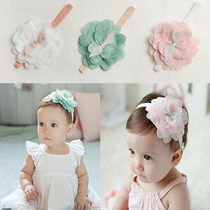 98778569eaa1 Cute Kids Baby Girl Toddler Lace Flower Headband Hair Band Headwear ...