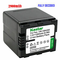1x Kastar Battery For Panasonic Vw-vbn260 Hc-x920 Hc-x920m Hdc-hs900 Hdc-sd800