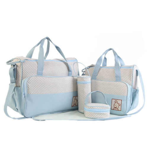 5 tlg Baby Wickeltasche Pflegetasche Windeltasche Babytasche Windel Baby Tasche