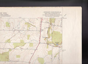 Geneseo Quadrangle Livingston County NY US Geological Survey Map