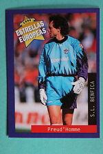 PANINI ESTRELLAS EUROPEAS 1996  N. 82 BENFICA PREUD'HOMME MINT!!!