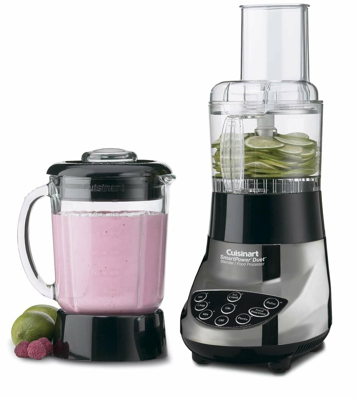 Cuisinart BFP-703BC SmartPower Duet Blender and Food Processor, Glass Jar Chrome