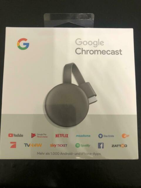 Google Chromecast 3. Generation HD Media Streamer - Schwarz (GA00439-DE)