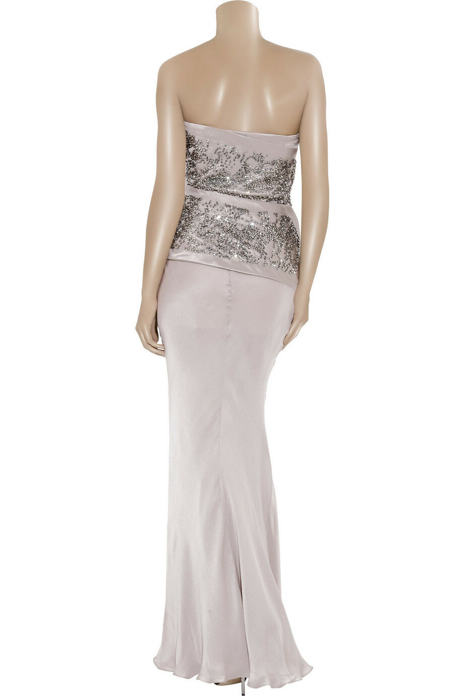 HALSTON STUD EMBELLISHED SILK SATIN SATIN SATIN GOWN SIZE MADE IN ITALY RETAIL     bf53b5