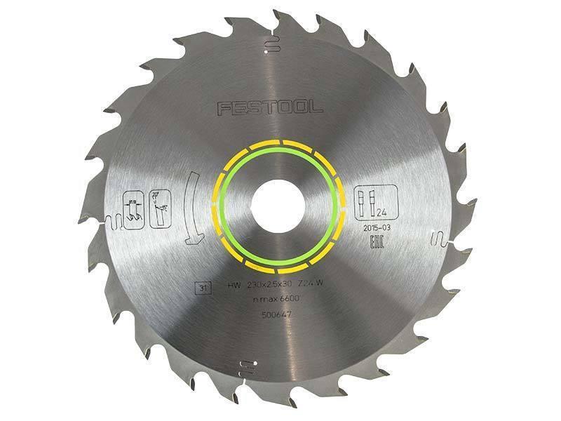 Festool Standard Saw Blade 230x2.5x30 W24 For HK 85 Circular Saw - 500647