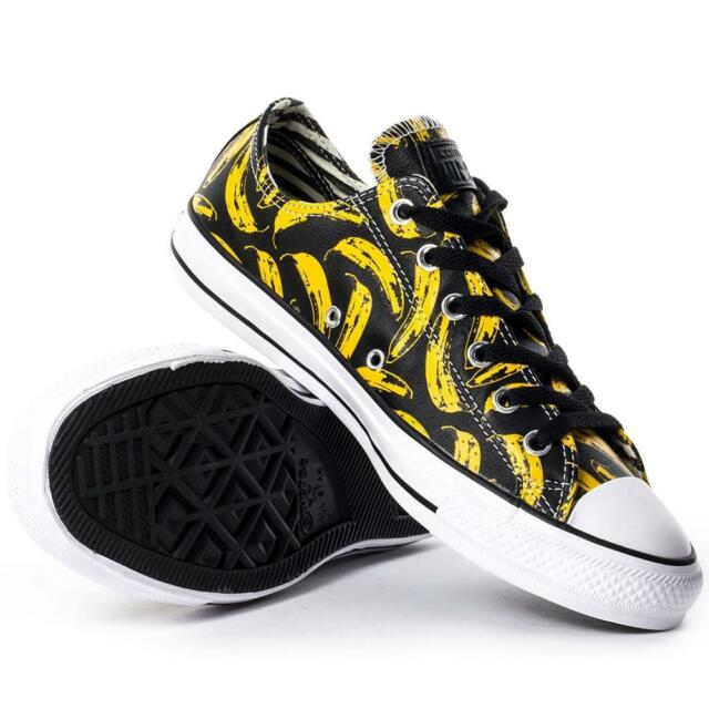 2cdc02d032d5e7 Converse Andy Warhol Chuck Taylor Lo Ox Leather Banana Velvet Underground  BLACK