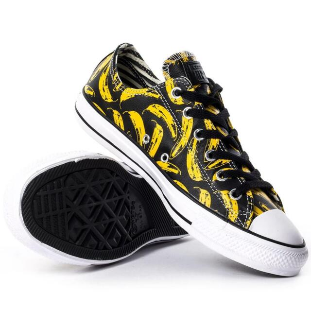 aacf8f48f927 Converse Andy Warhol Chuck Taylor Lo Ox Leather Banana Velvet Underground  BLACK