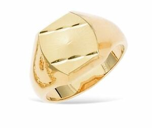 New-18ct-Gold-Filled-Diamond-Cut-Signet-Ring-for-Men-039-s-B154