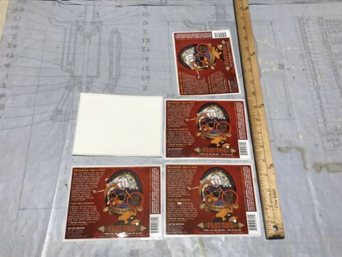 Flat Tail Brewing Beer Labels Oregon Mustache Rye'd Red Ale Lot Of 5