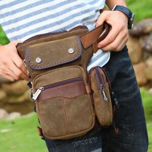 1f71004aba Men Waist Drop Leg Hip Bum Shoulder Messenger Bag Travel Canvas ...