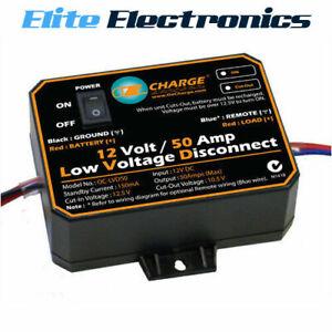 OZCHARGE 12V 50A AMP LOW VOLTAGE DISCONNECT LVD OC-LVD50 FOR CARAVAN MOTORHOMES