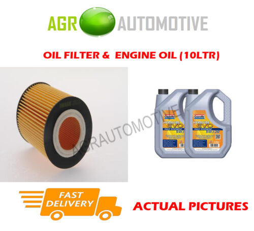 PETROL OIL FILTER + LL 5W30 ENGINE OIL FOR BMW 325I 2.5 192 BHP 200006