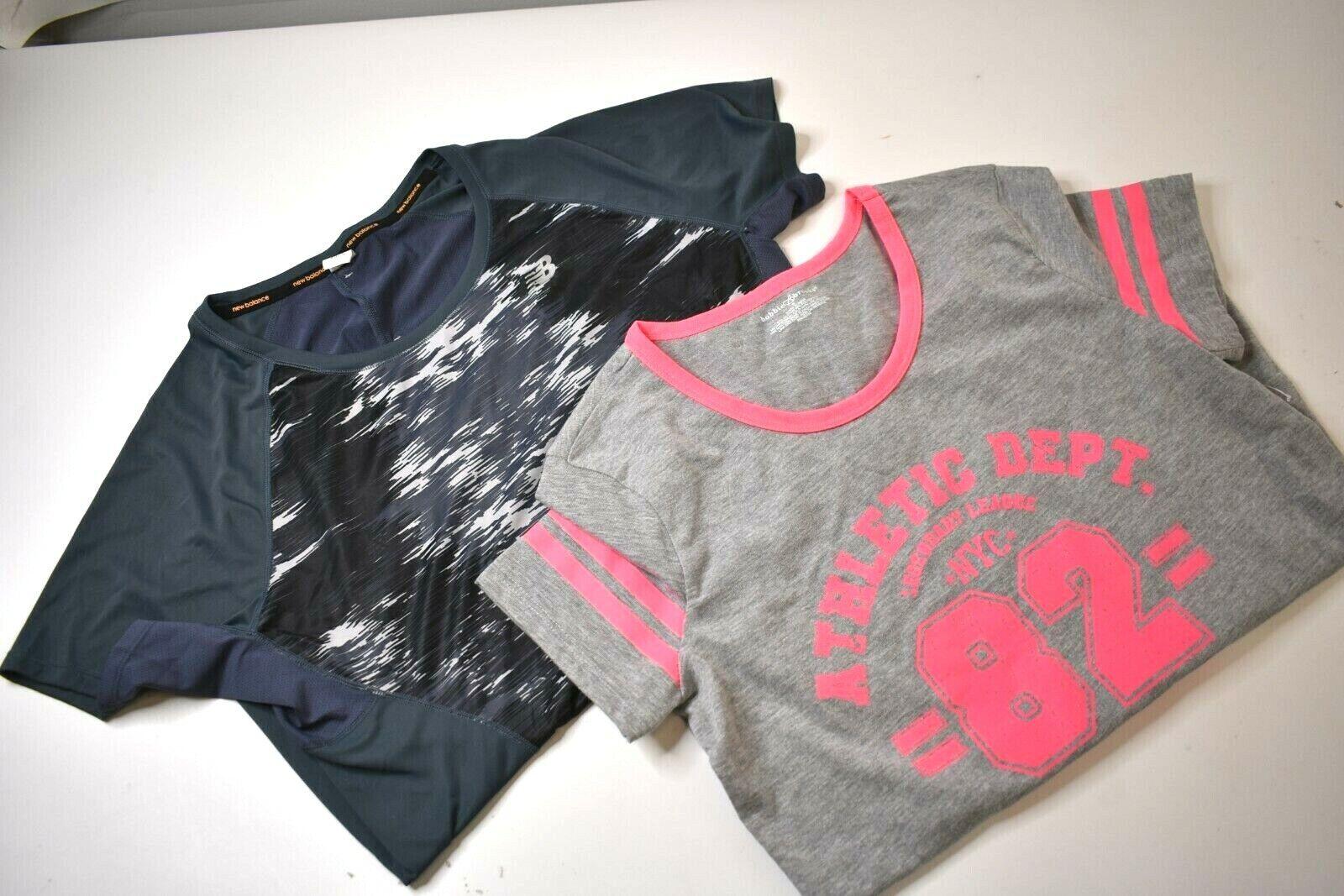 Bobbie Brooks&New Balance Women's Small Short Sleeve Athleticwear Tops Lot of 2