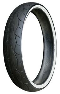 """Vee Rubber 120//50HB26 VRM302 Twin White Wall Tire Harley Custom W30214 26/"""" Front"""